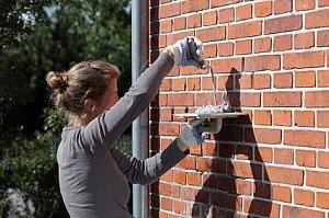 Fugning af murstens facade